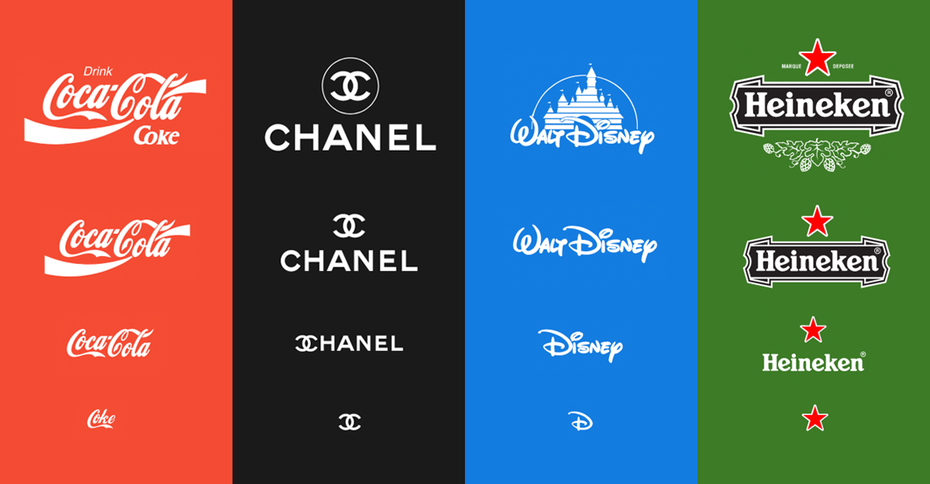 "Select examples from ""Responsive Logos"". Via Joe Harrison"